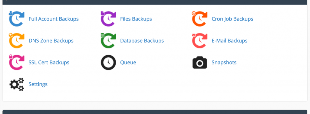 Advanced cPanel backup