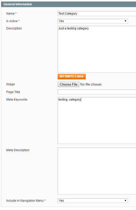 How to add a product category in Magento