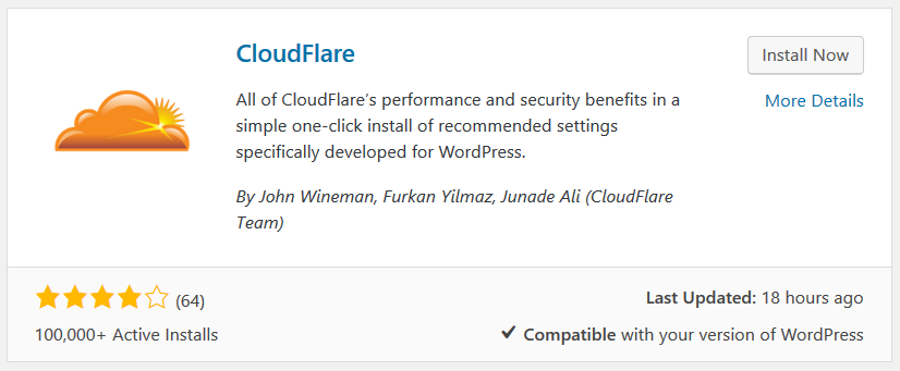 install_cloudflare_wordpress_plugin