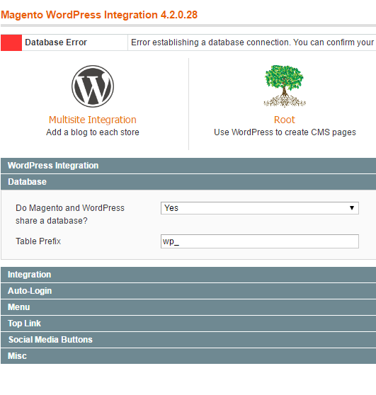 magento_wordpress_database_settings