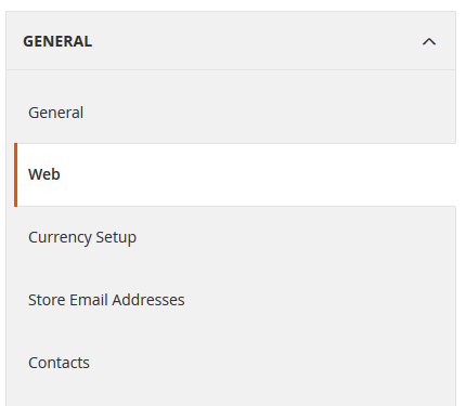 Magento 2 General settings