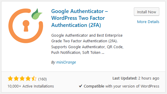 WordPress and Two Factor Authentication (2FA)