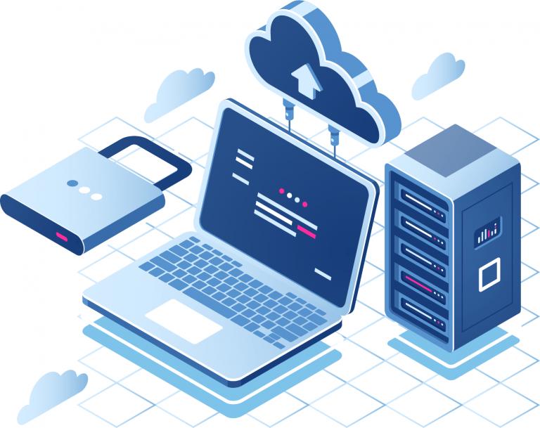 Cloud Server Hosting Illustration