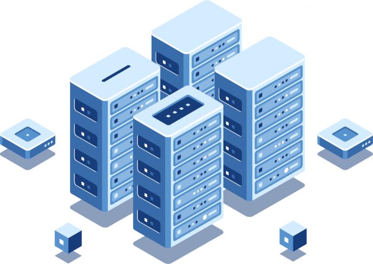 Dedicated Server Hosting Illustration